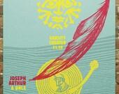 "Joseph Arthur - Screen Printed Gig Poster - ""Icarus"""