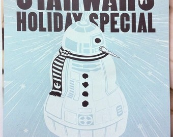 STAR WARS Holiday Special - R2 the Snow Droid poster