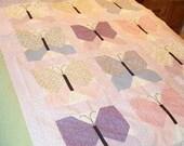 Custom Throw Pastel Butterflies