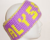 Personalized Womens Headband, Custom Name, Hand Knitted Head Band, gift for her