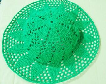 Womens Summer Hats Womens hats Green Hats Spring Summer Wedding Accessories Fashion Crochet Women hat