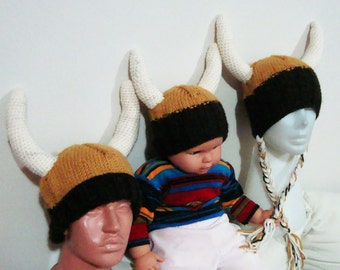 Family Viking Hats with Viking Horns for Family Matching Set Hats Made to Order Hats
