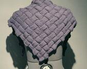 Knitted Shawl and Triangular Scarf Entrelac