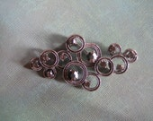 Marcasite and Rhinestone Vintage pin  Brooch  Pendant