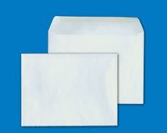 White envelopes for 4x6 cards and photos (pack of 25)