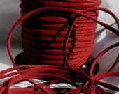 3 Yards- Burgundy Suede Cord