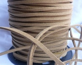 10 Yards- Camel Brown Suede Cord