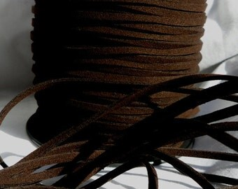 3 Yards- Very Dark Chocolate Suede Cord