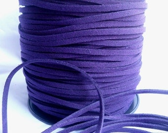 3 Yards- Blueberry Suede Cord