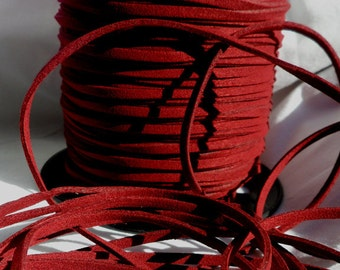 3 Yards- Burgundy Suede Cord