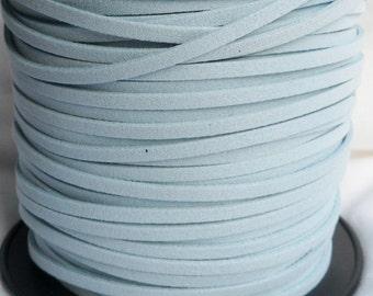 3 Yards- Vintage Blue Suede Cord