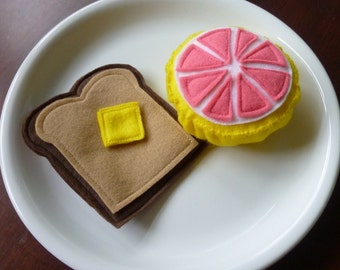 Grapefruit Breakfast - Felt Play Food