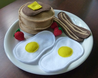 Deluxe Breakfast - Felt Play Food