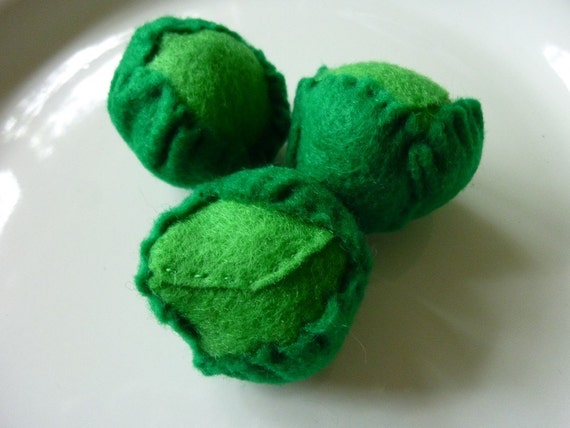 Brussel Sprouts - Felt Play Food