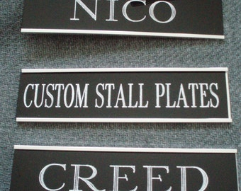 Horse Stall Plates Plaque with holder rotary engraved