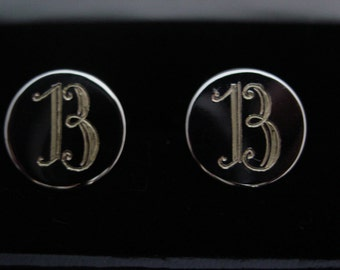 Silver Cufflinks, Custom Hand Engraved,  Monograms, or your initials