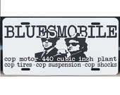 Blues Brothers Bluesmobile Cop Specs License Plate Car Tag