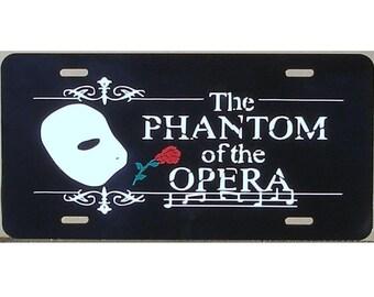 Phantom of the Opera - License Plate - Car Tag