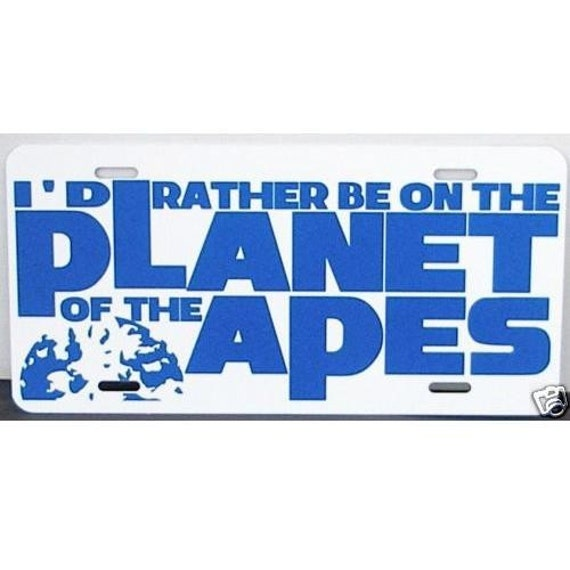 Planet of the Apes License Plate Car Tag