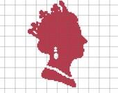 PDF Pattern, Queen Elizabeth Counted Cross Stitch