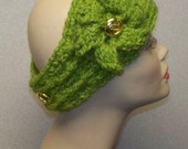 Apple Green Cabled Ear Warmer Headband - Adjustable and available in many colors