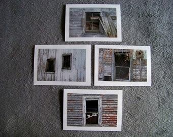 Old Window Medley-set of 4 notecards
