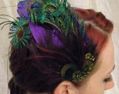 Fancy Peacock Fascinator 10 Percent Donated to Fight Cancer