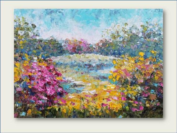 InThe Park- Original Oil Painting SALE SALE SALE