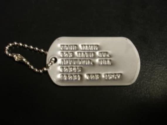 Genuine Custom Military Dog Tag Made With WWII Machine FREE SHIPPING