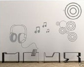 Wall Decor Decal Sticker Removable Vinyl headset