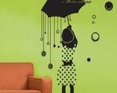 Wall Decor Decal Sticker Removable Vinyl rainbow girl