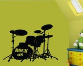 large Wall Decor Decal Sticker Removable Vinyl drum set