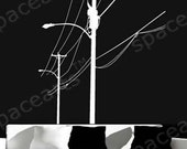 Wall Decor Decal Sticker Removable Vinyl electric pole
