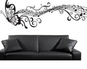 large Wall Decor Decal Sticker Vinyl butterfly stave 02