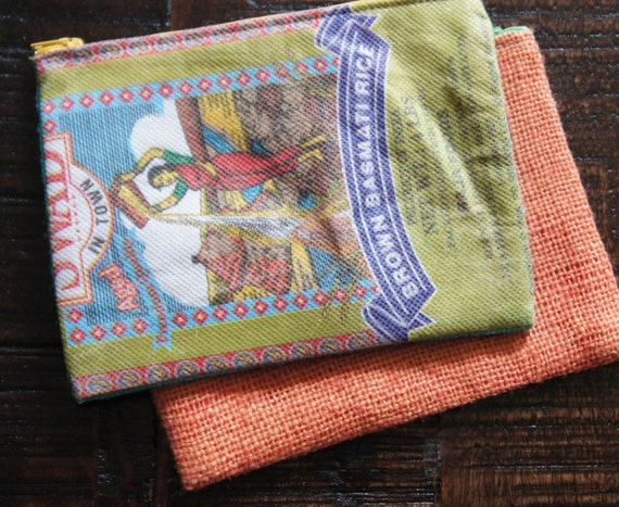 "Recycled Rice Bag Pencil Case 9"" x 4..75"""