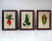 kitchen cuties - embroidered vegetables