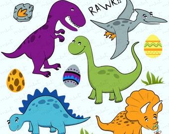 50% OFF SALE Dinosaur Digital clip art set - Clipart for Scrapbooking, Invitation, Card, Photo