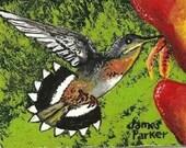 ACEO - Hummingbird THREE  (Series of 50)