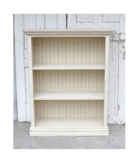 Items Similar To Bookcase In Distressed Antique White On Etsy