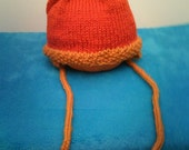 Russet and Gold Earflap Hat