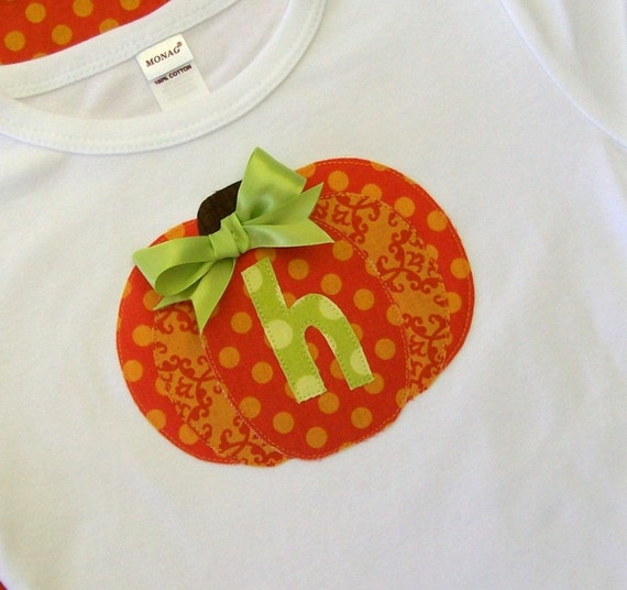 Pumpkin Shirt - Personalized -  Short or Long Sleeve Shirt -  Great for  Halloween, Fall and Thanksgiving