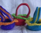 Small Crochet Easter Baskets
