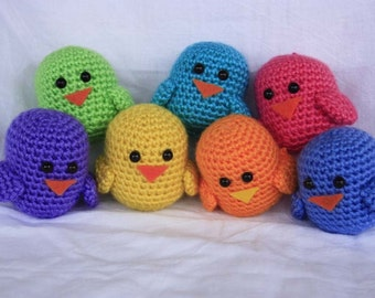 Crochet Birds (bright colors)