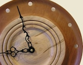 Natural beauty clock made with Spanish Cedar and Ambrosia Maple / free shipping