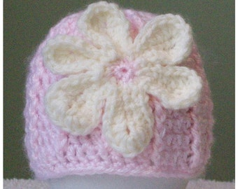 Pink Hat with Flower