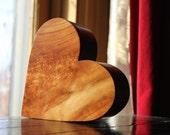 Wooden Box Heart Shaped