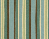 JAVA coffee fabric aqua stripe by Deb Strain for Moda