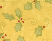 """17"""" remnant - Merry and Bright - Holly on gold"""
