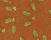 Adoring - Holly on red - Moda -Christmas/Holiday/Winter fabric - OOP HTF