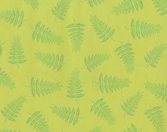 Woodland Friends 2 green fern tonal fabric from Clothworks
